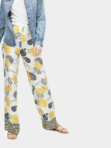 Yoins High Waist Chrysanthemum Print Wide Leg Trousers