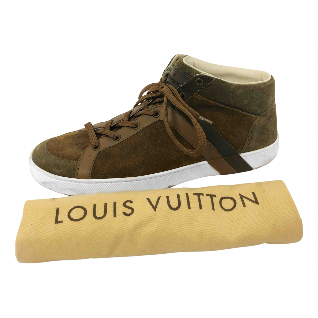 Louis Vuitton N Brown Suede Trainers for Men 8 US