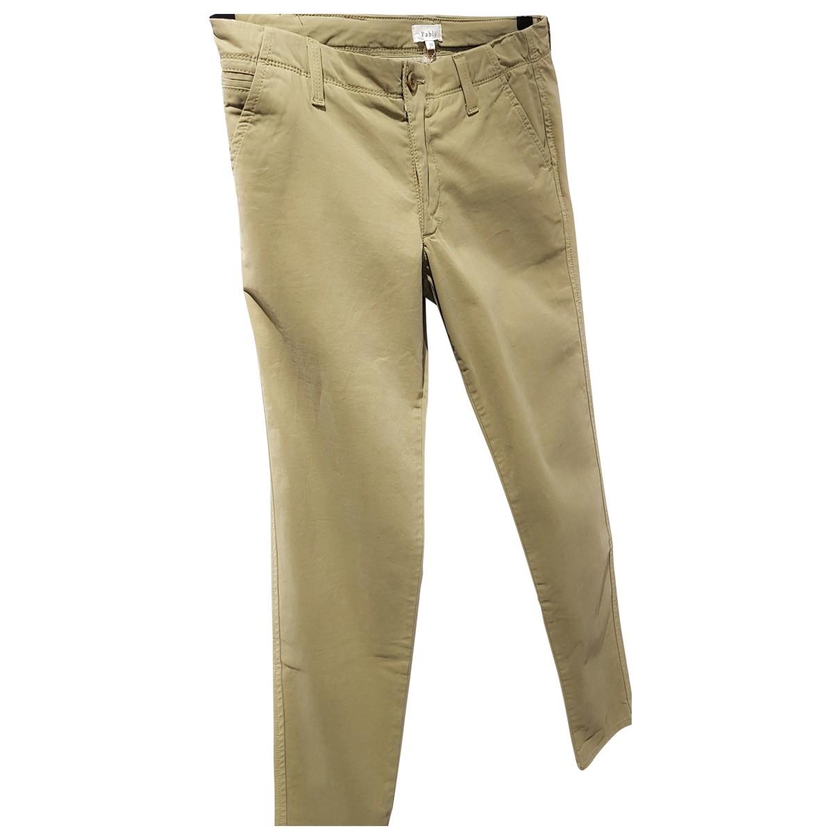 Pantalon en Algodon Verde Pablo