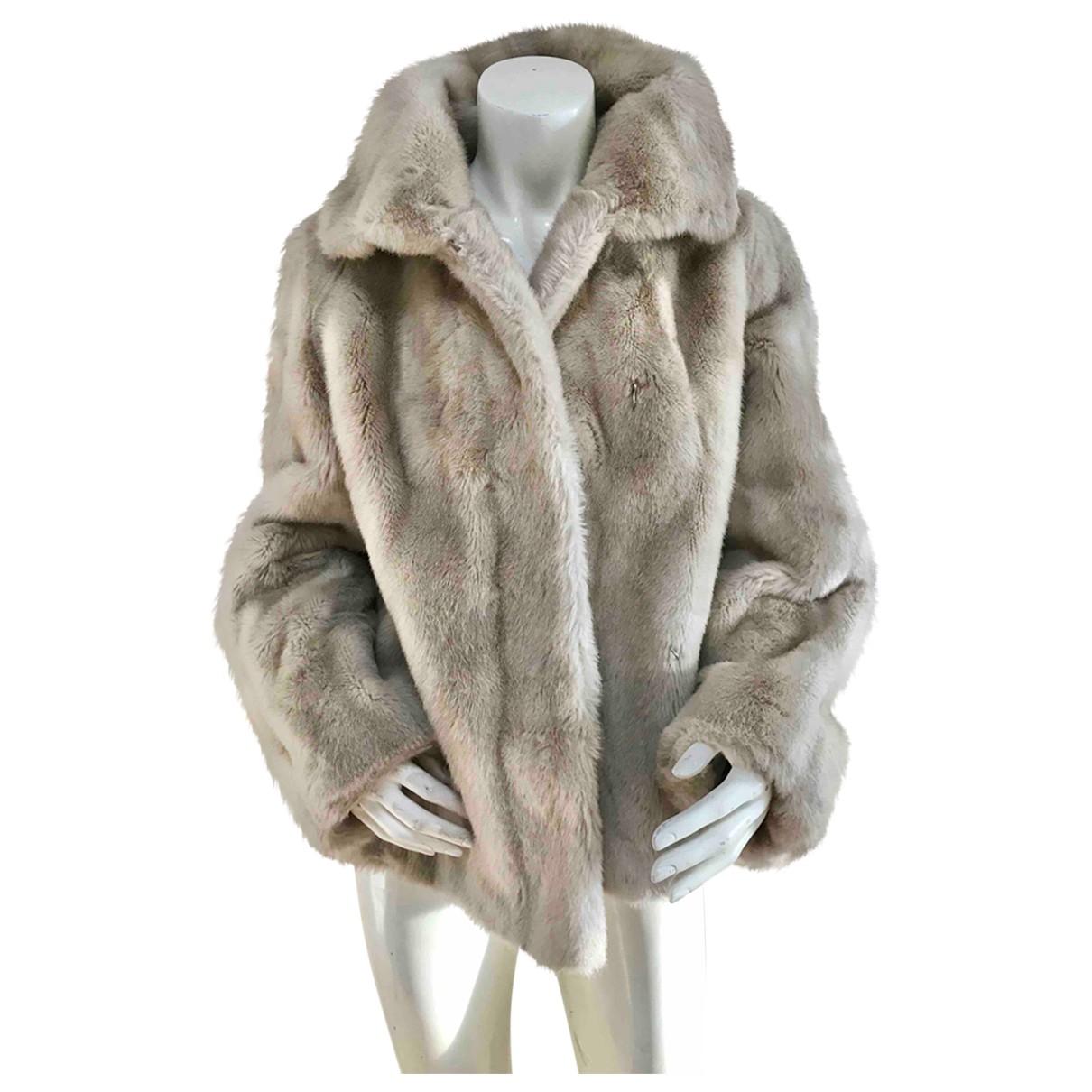 - Veste   pour femme en fourrure synthetique - beige