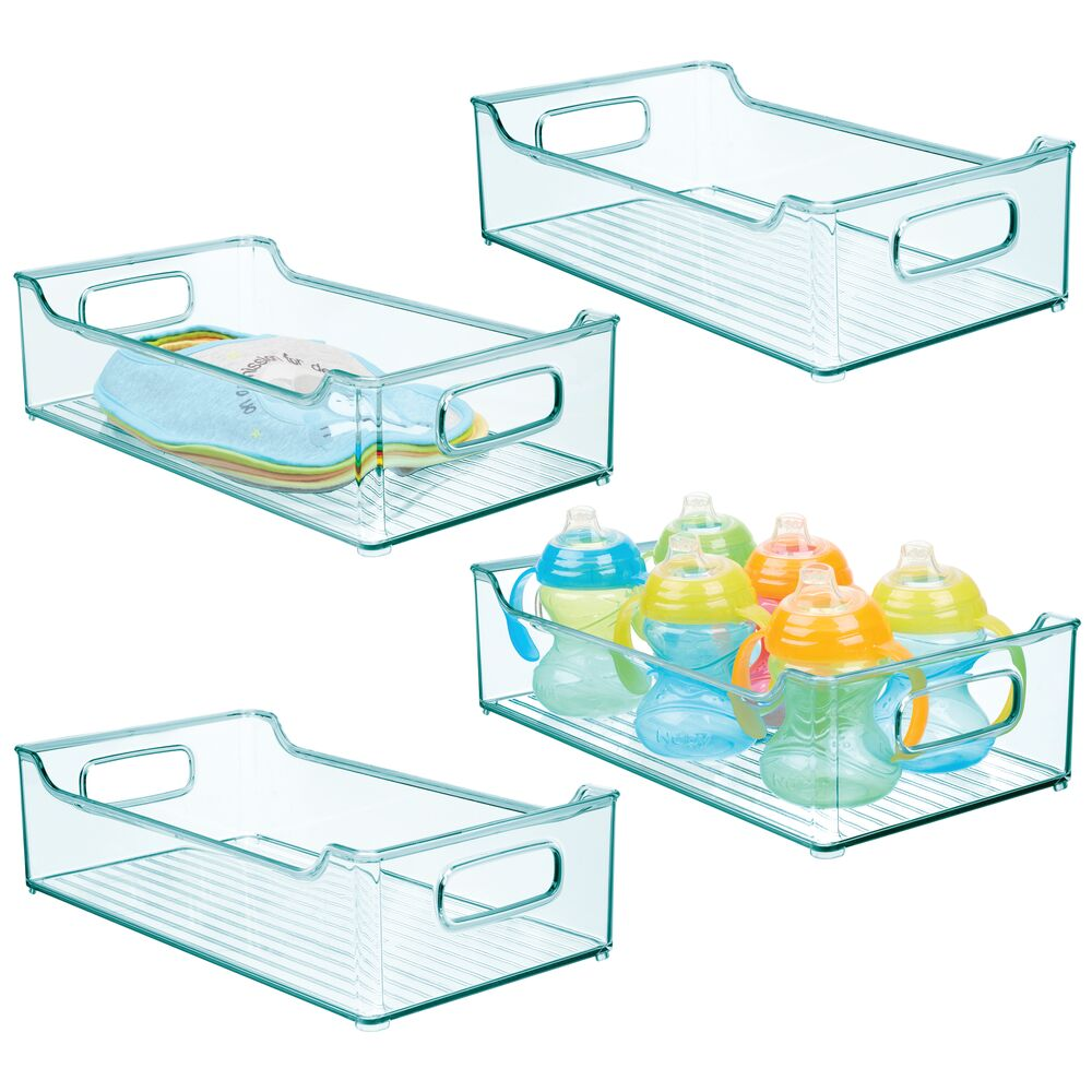 Plastic Baby/Kids Room Storage Organizer-Bin in Sea Blue, 14.5