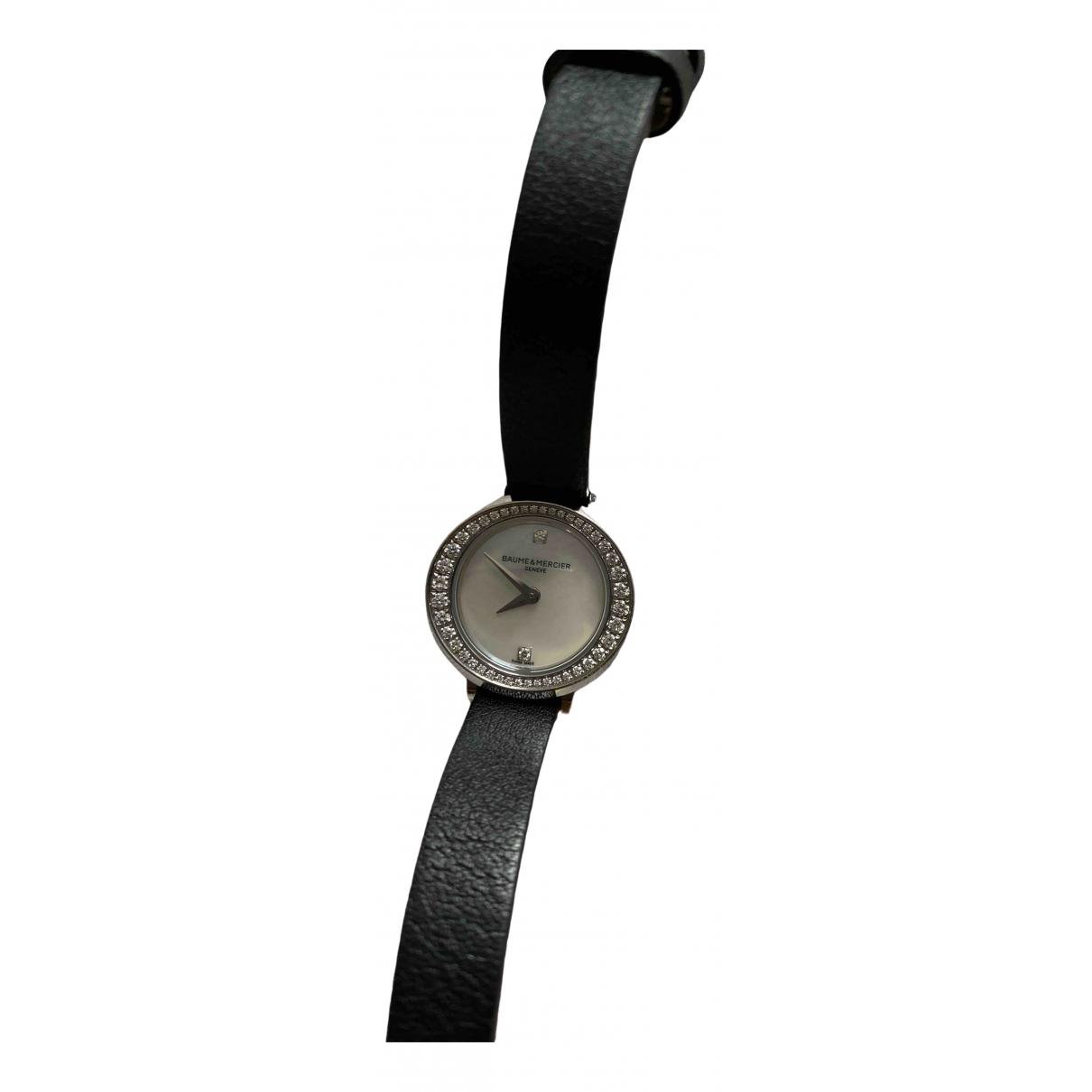 Baume Et Mercier \N Uhr in  Schwarz Stahl