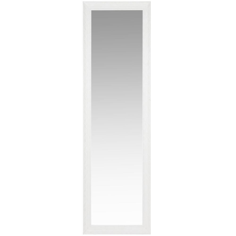 Standspiegel mit Rahmen aus weissem Paulownienholz 50x170
