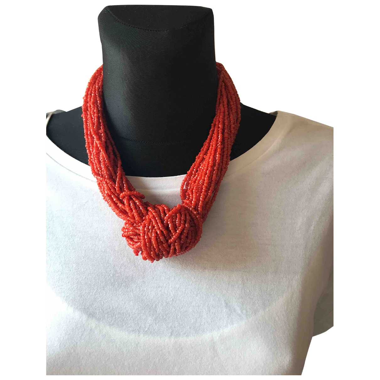 Non Signé / Unsigned \N Red necklace for Women \N