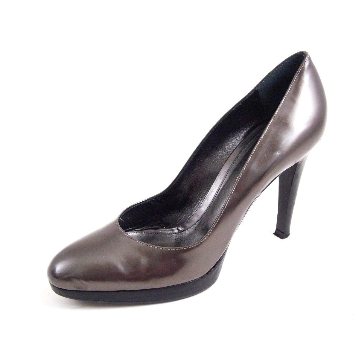 Gianvito Rossi \N Grey Leather Heels for Women 40 EU