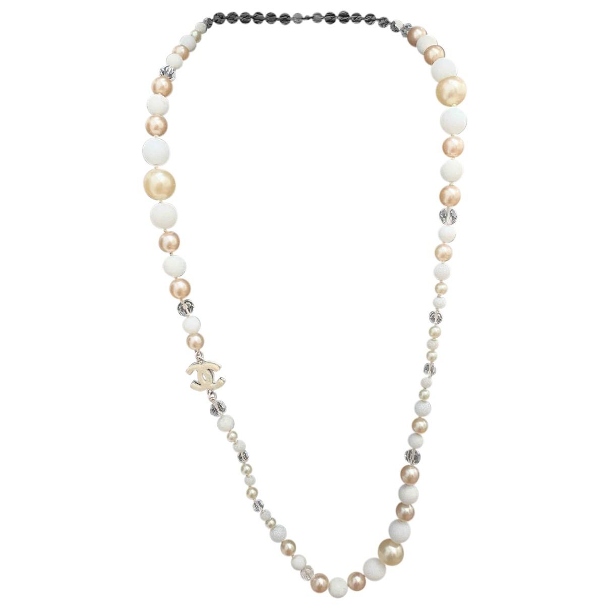 Chanel - Pendentif   pour femme en perles - blanc