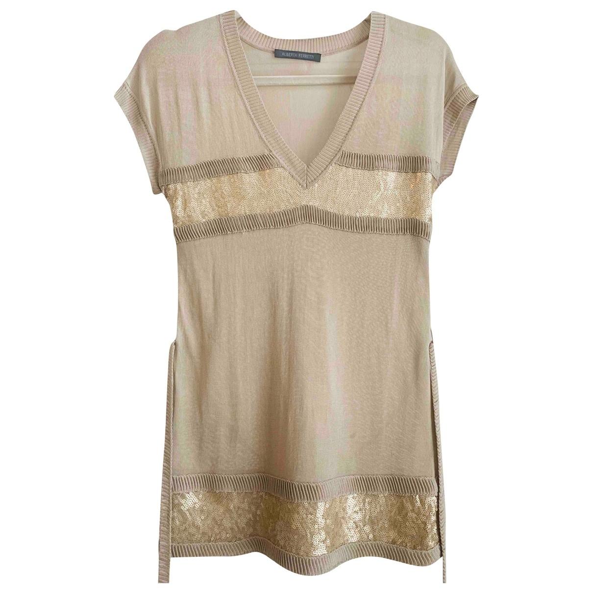 Alberta Ferretti \N Beige Silk  top for Women 40 IT