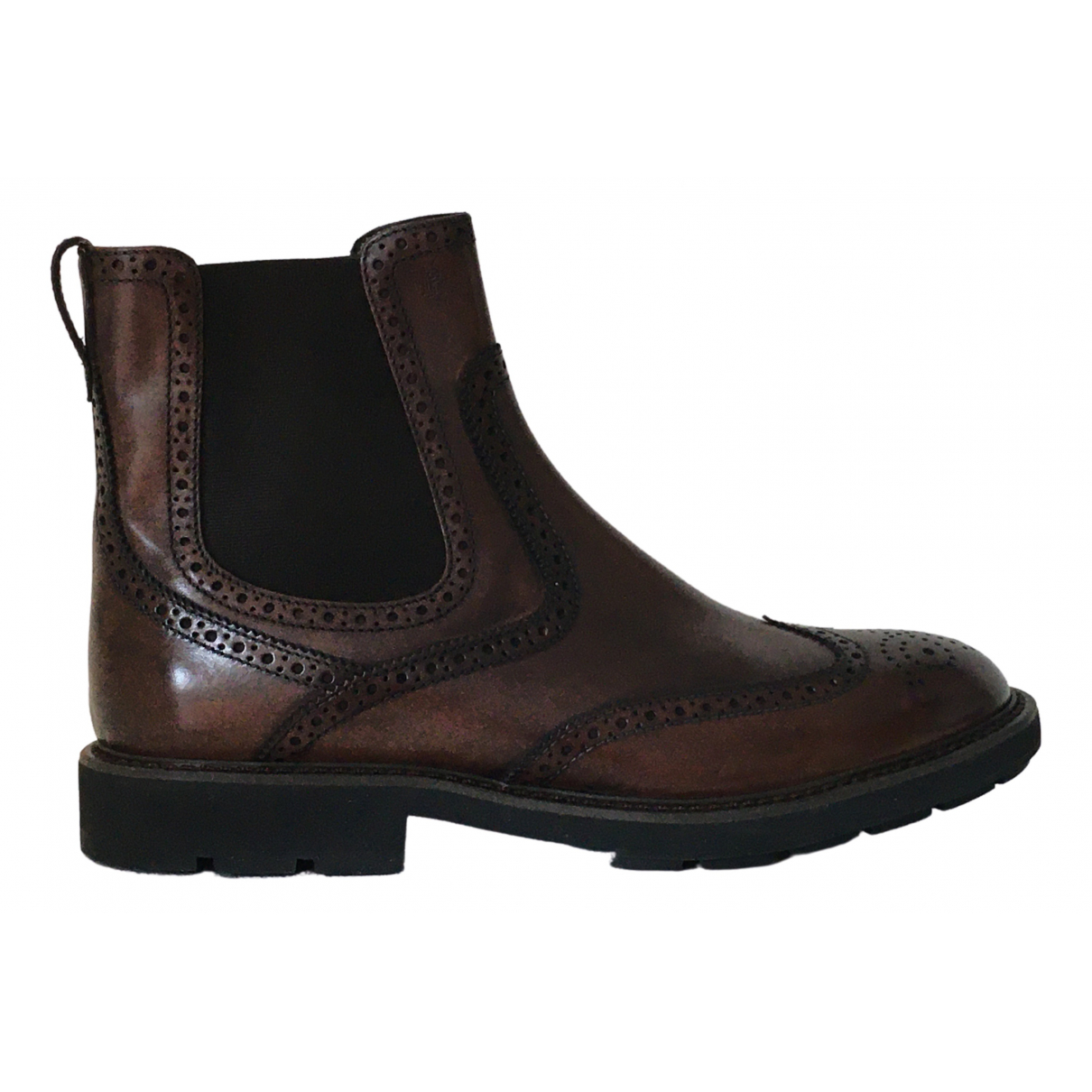 Tod's \N Brown Leather Boots for Men 7.5 UK