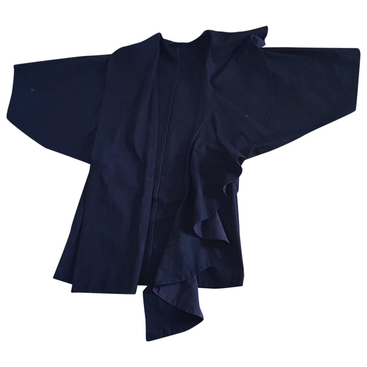 Yohji Yamamoto - Manteau   pour femme en coton - noir