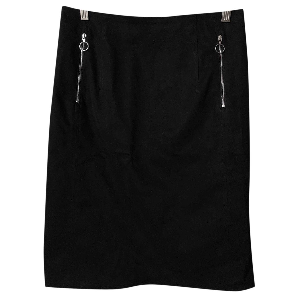 Acne Studios N Black Cotton - elasthane skirt for Women 36 FR
