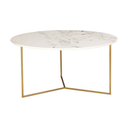1572-019 Glacier Coffee Table  In Gold  White Printed