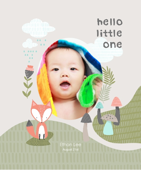 Baby + Kids Canvas Print, 11x14, Home Décor -Little Fox