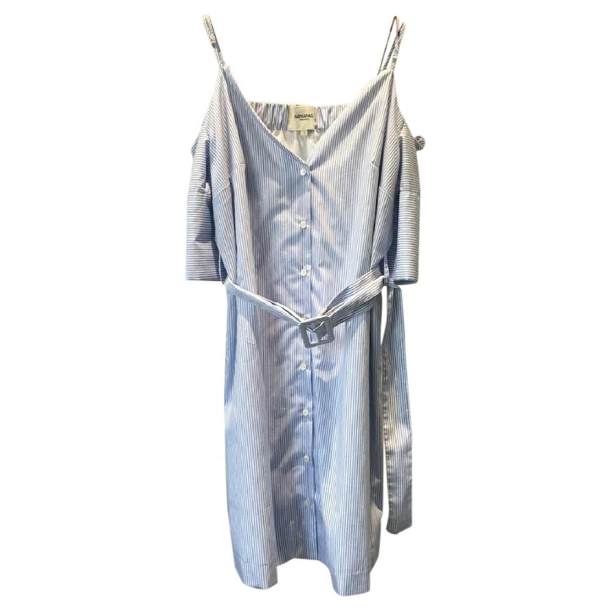 Nanushka \N Kleid in  Blau Baumwolle