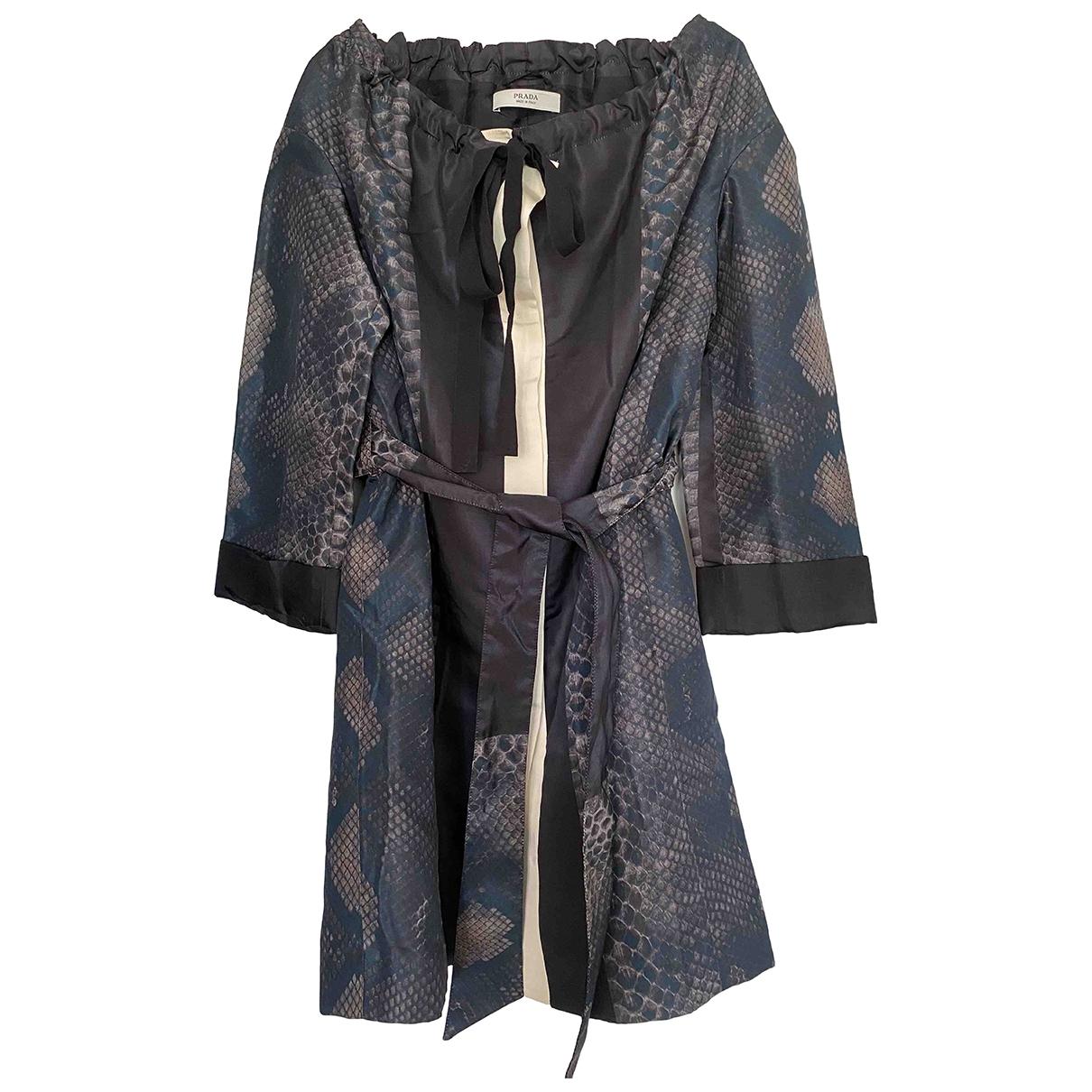 Prada - Manteau   pour femme en soie - multicolore