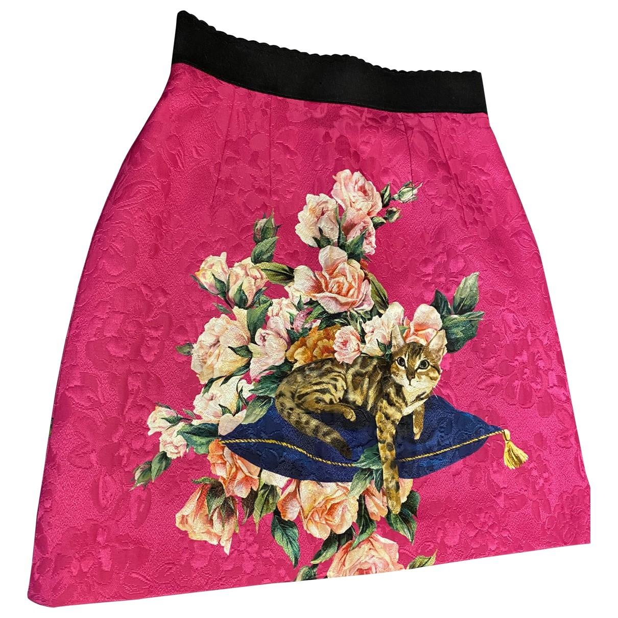 Dolce & Gabbana - Jupe   pour femme en coton - elasthane - rose
