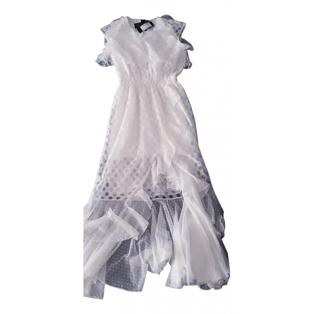 Just Cavalli \N Kleid in  Weiss Spitze