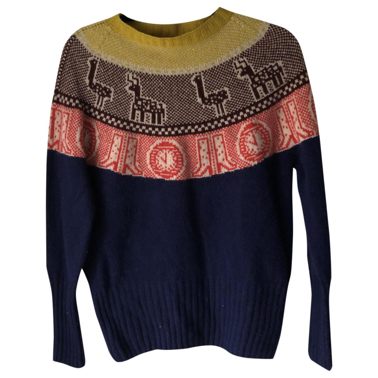 - Pull Norvegien pour femme en laine - marine