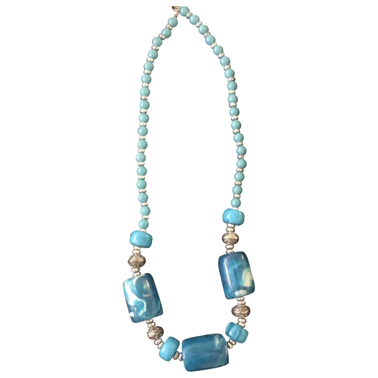 Non Signé / Unsigned \N Turquoise Long necklace for Women \N