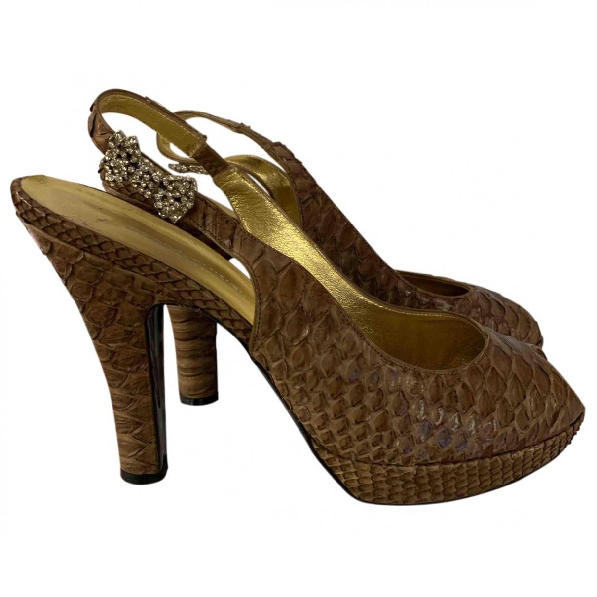 Sonia Rykiel \N Sandalen in  Braun Wasserschlangen