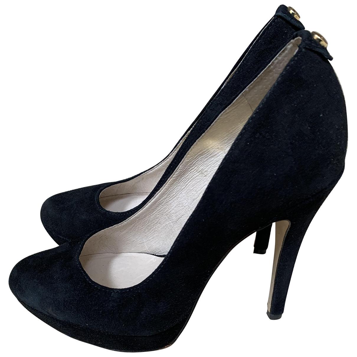 Michael Kors N Black Suede Heels for Women 6 US