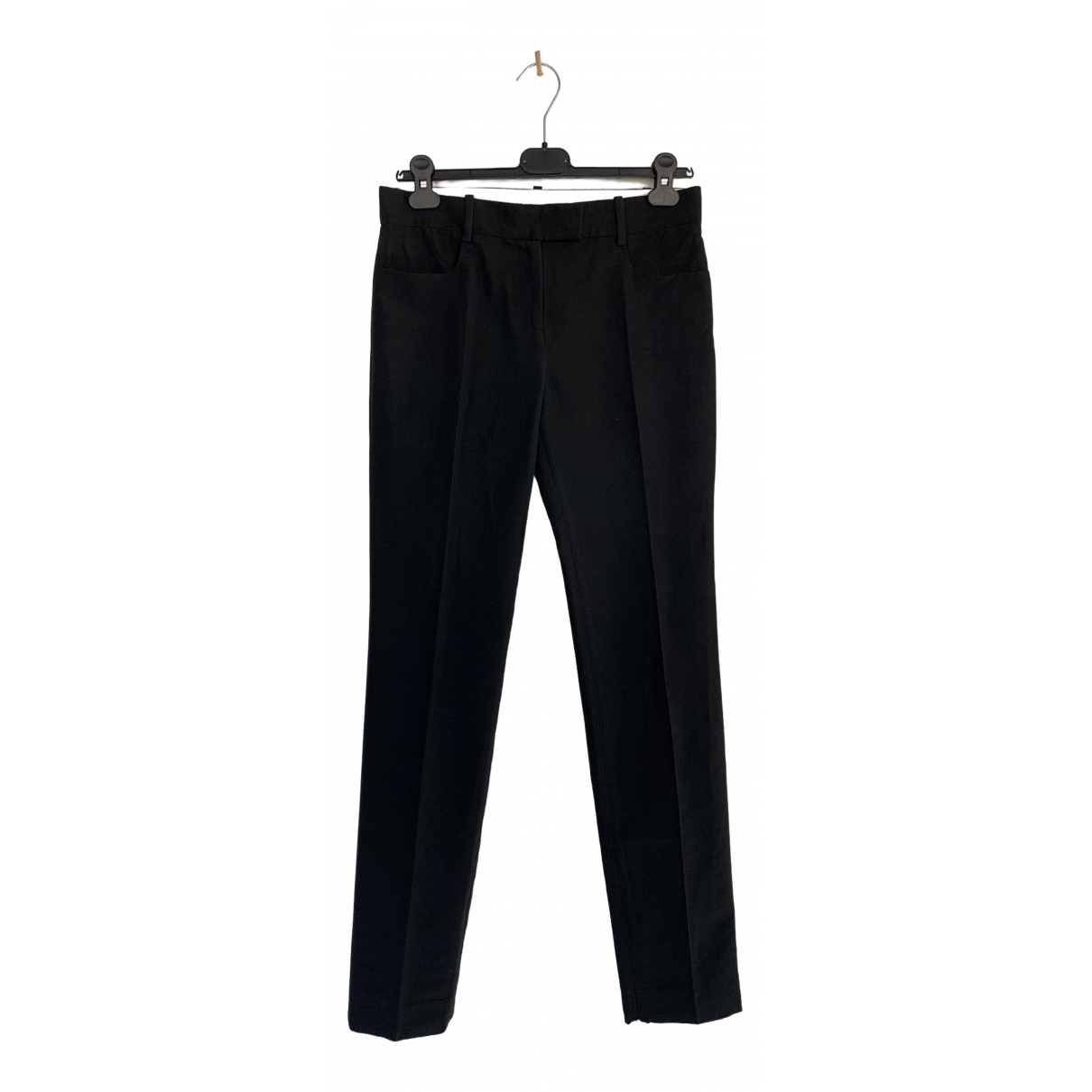 Matthew Williamson \N Black Cotton Trousers for Women 8 UK
