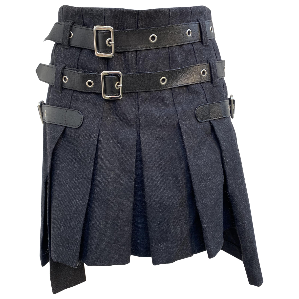 D&g \N Anthracite Wool skirt for Women 42 IT