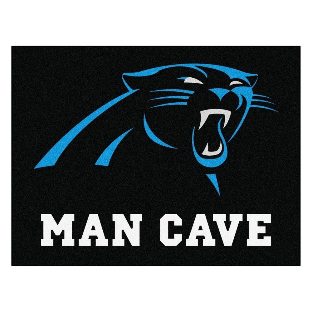 NFL - Carolina Panthers Man Cave Rug - 34 in. x 42.5 in. - 3' x 5'/Surplus (Black - 3' x 5'/Surplus)