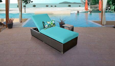 Belle Collection BELLE-1x-ST-ARUBA Patio Set with 1 Chaise   1 Side Table - Wheat and Aruba