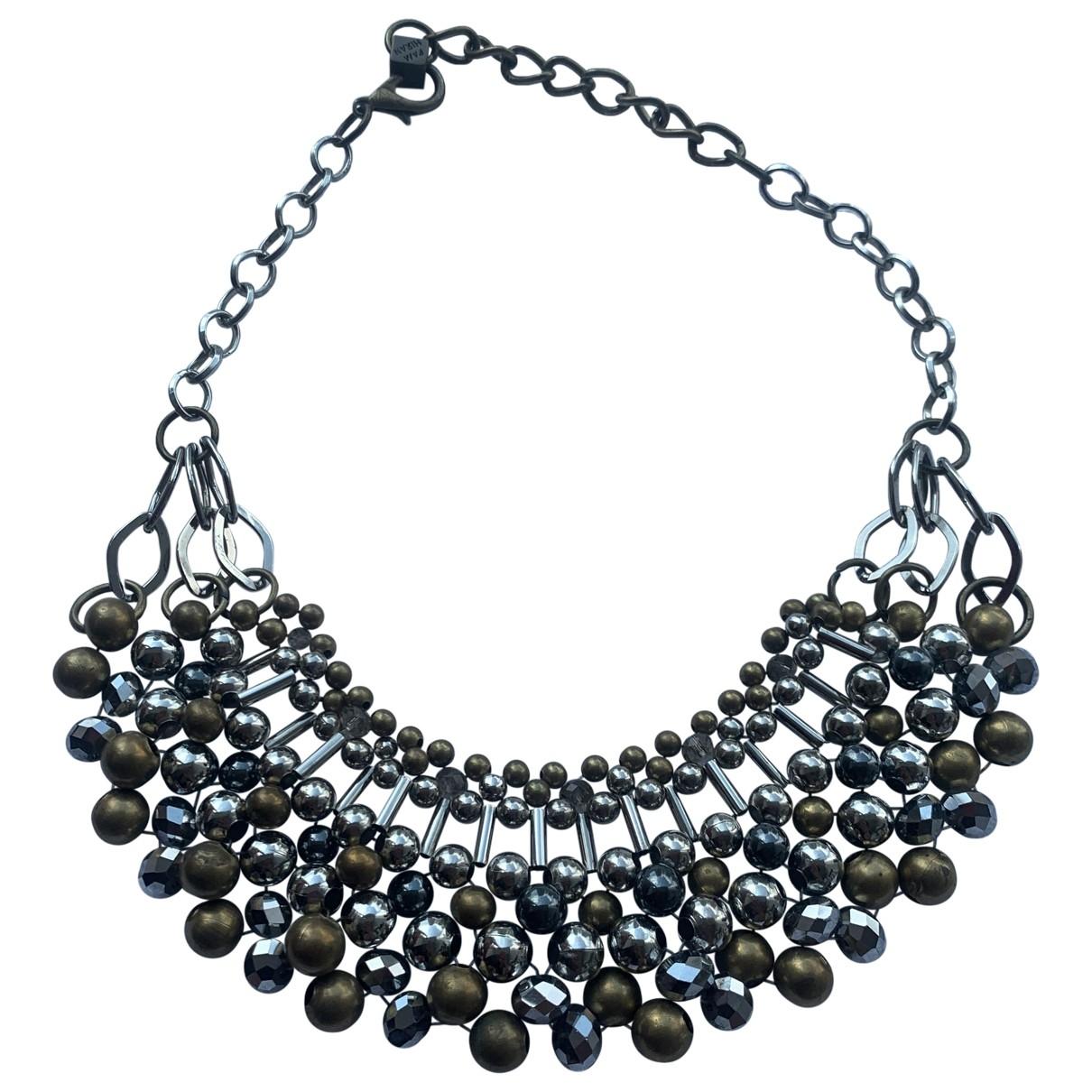 - Collier Motifs Ethniques pour femme en metal - anthracite