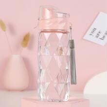 Transparente tragebare Wasserflasche