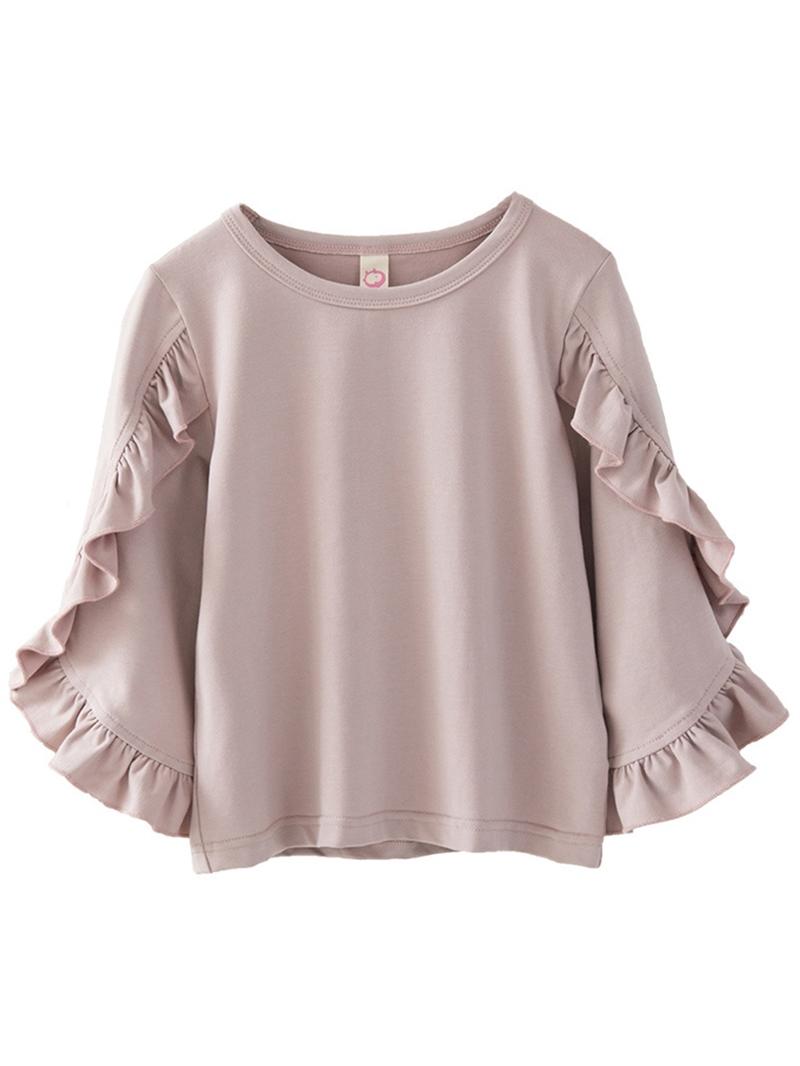 Ericdress Petal Sleeve Falbala Patchwork Girls' T-shirt