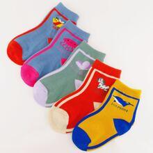 5 Paare Kinder Socken mit Karikatur Grafik