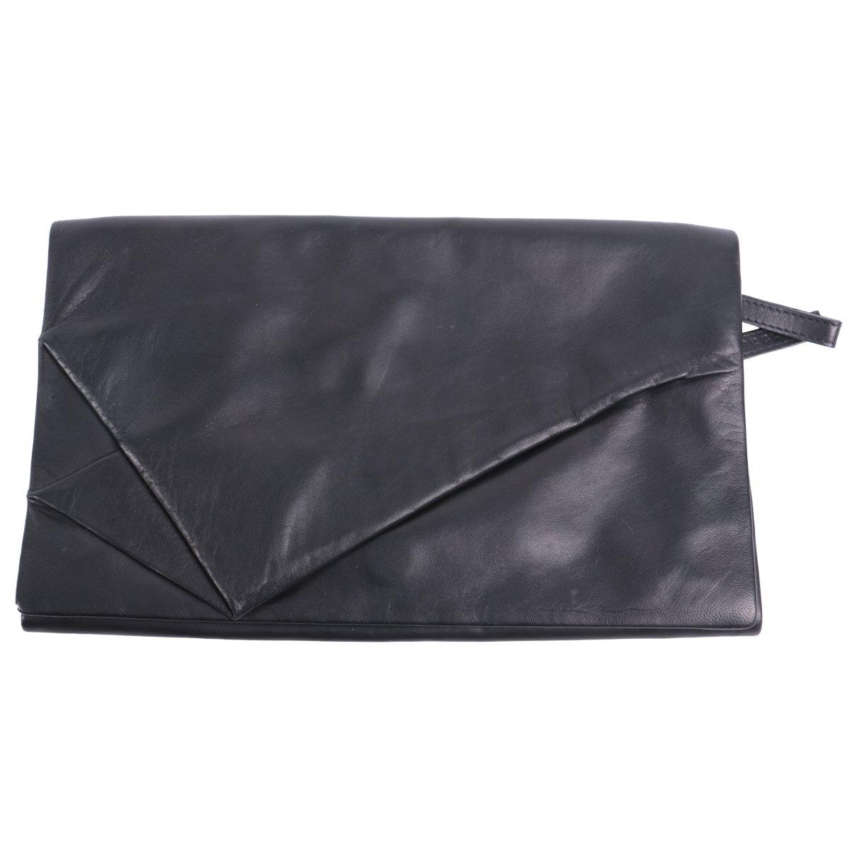 Maison Martin Margiela \N Black Leather Clutch bag for Women \N
