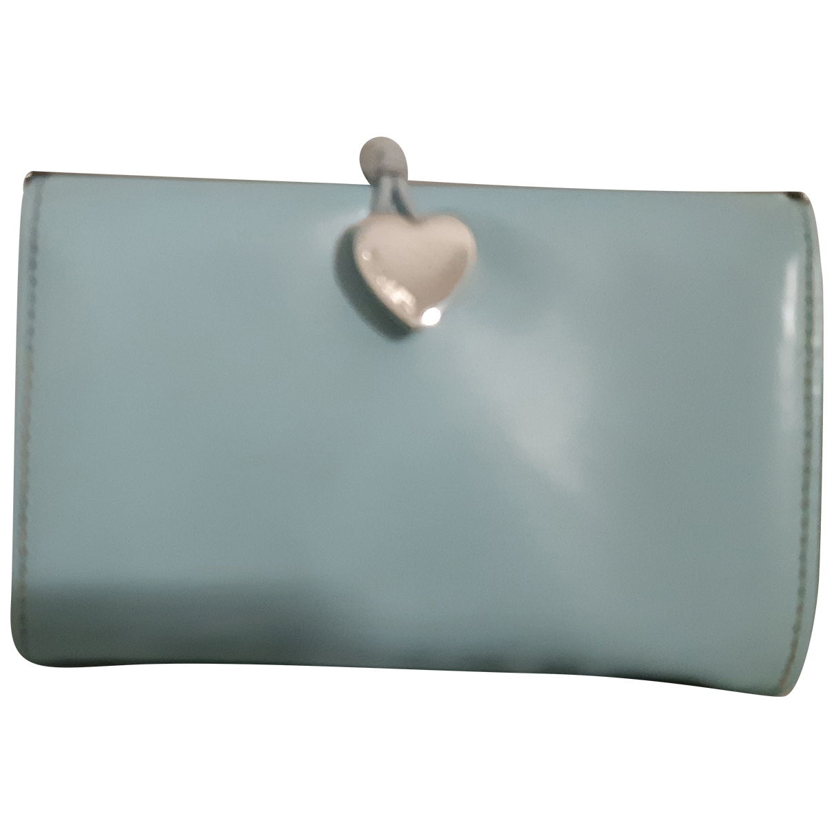Moschino \N Blue Patent leather Purses, wallet & cases for Women \N
