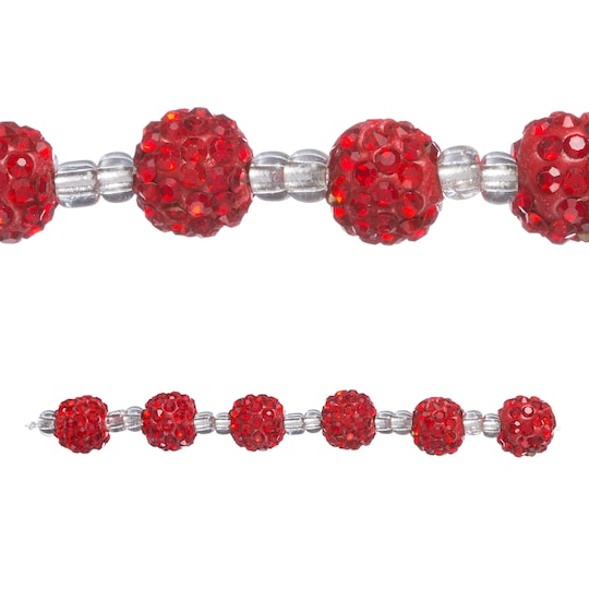 Red Clay Pavé Rondel Beads, 10Mm By Bead Landing™ | Michaels®
