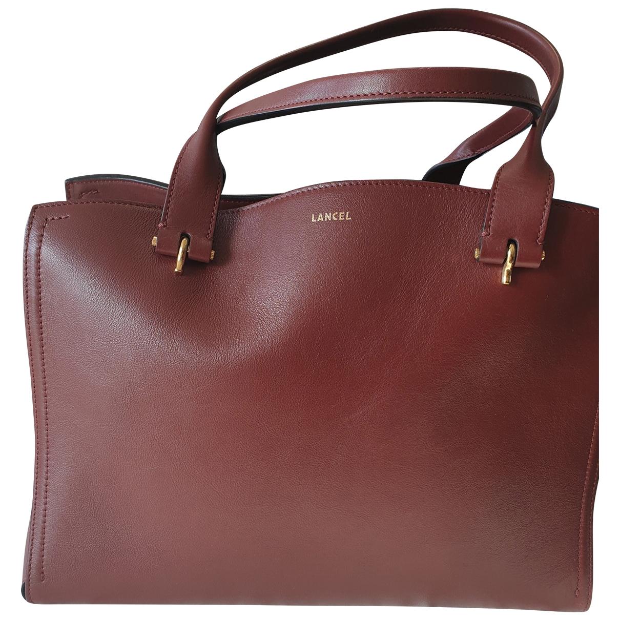 Lancel \N Burgundy Leather handbag for Women \N
