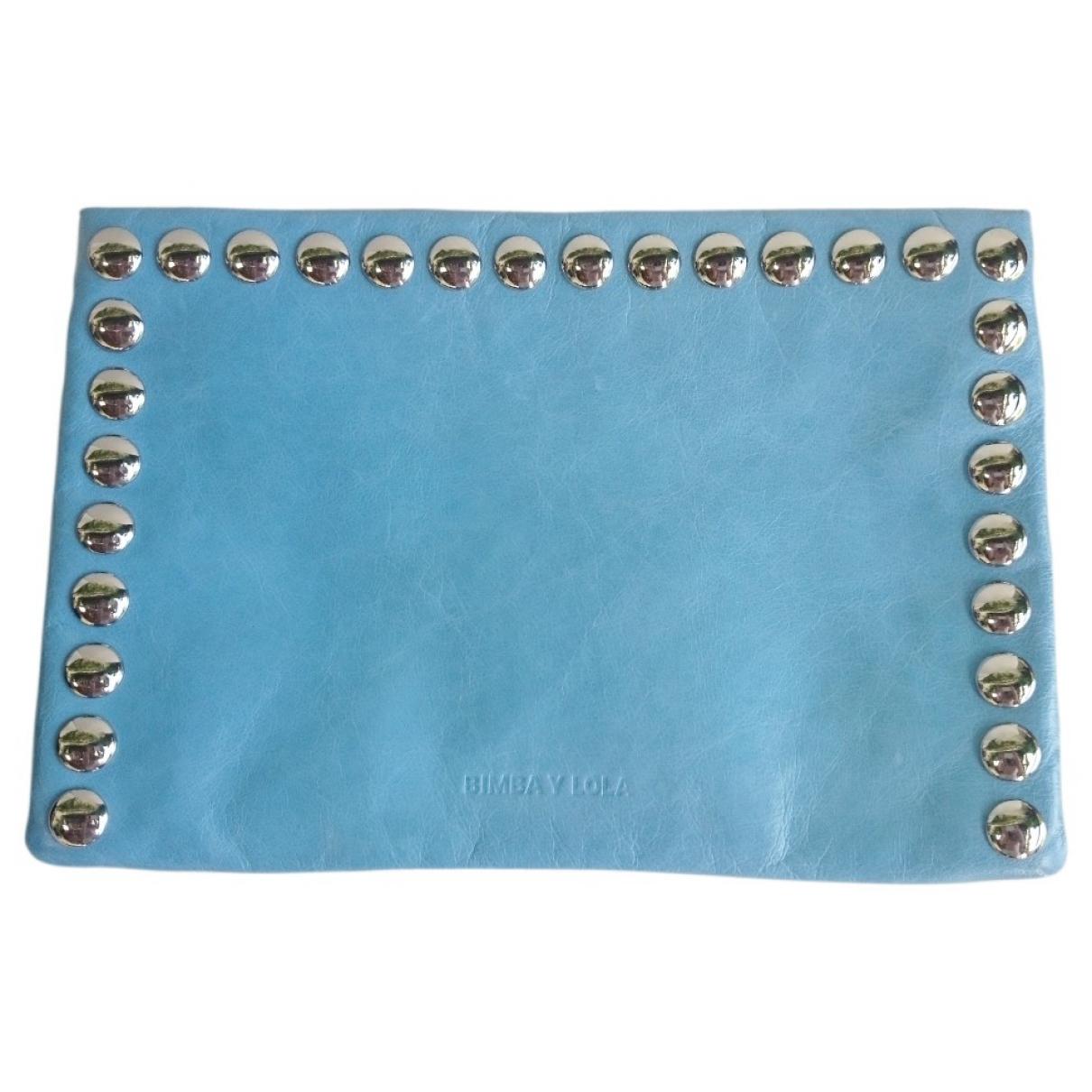 Bimba Y Lola - Pochette   pour femme en cuir - bleu
