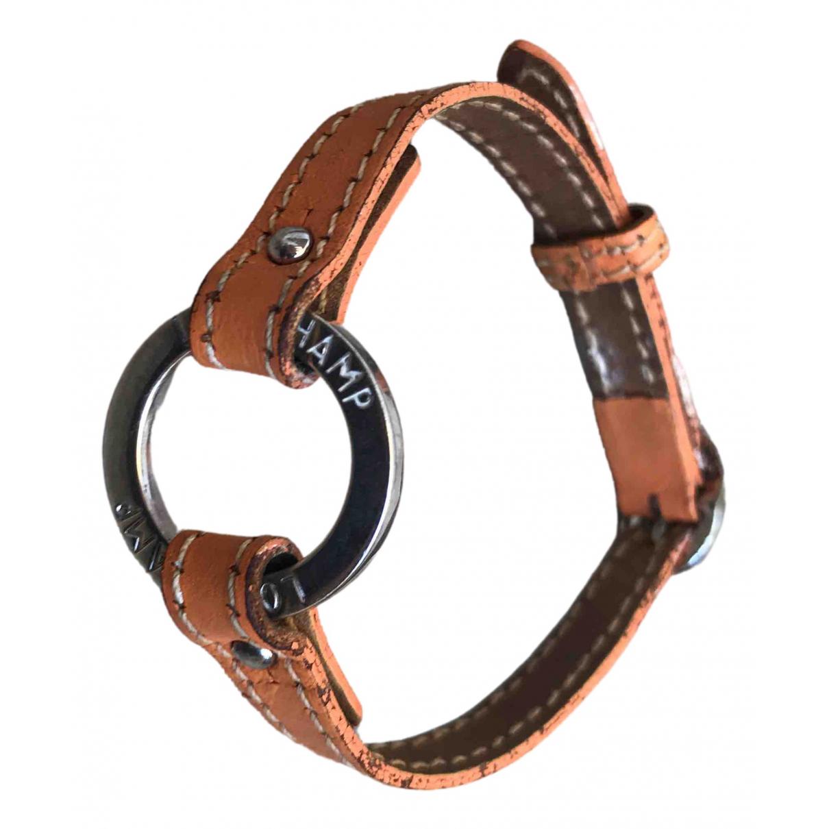 Longchamp - Bracelet   pour femme en cuir - argente
