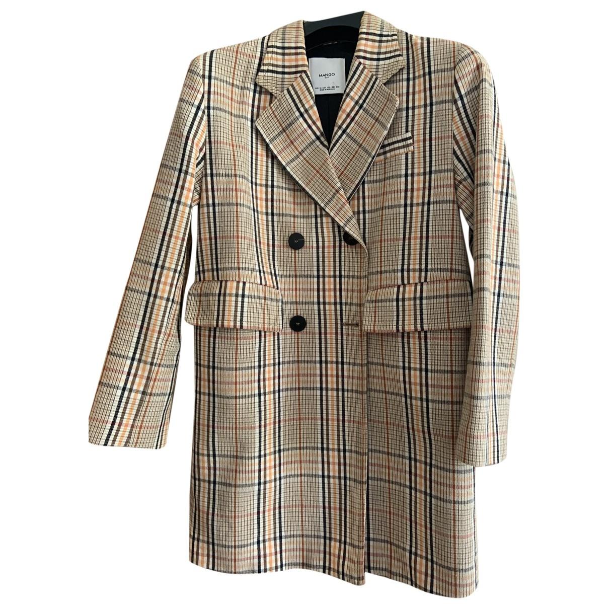 Mango \N Beige Cotton coat for Women XS International