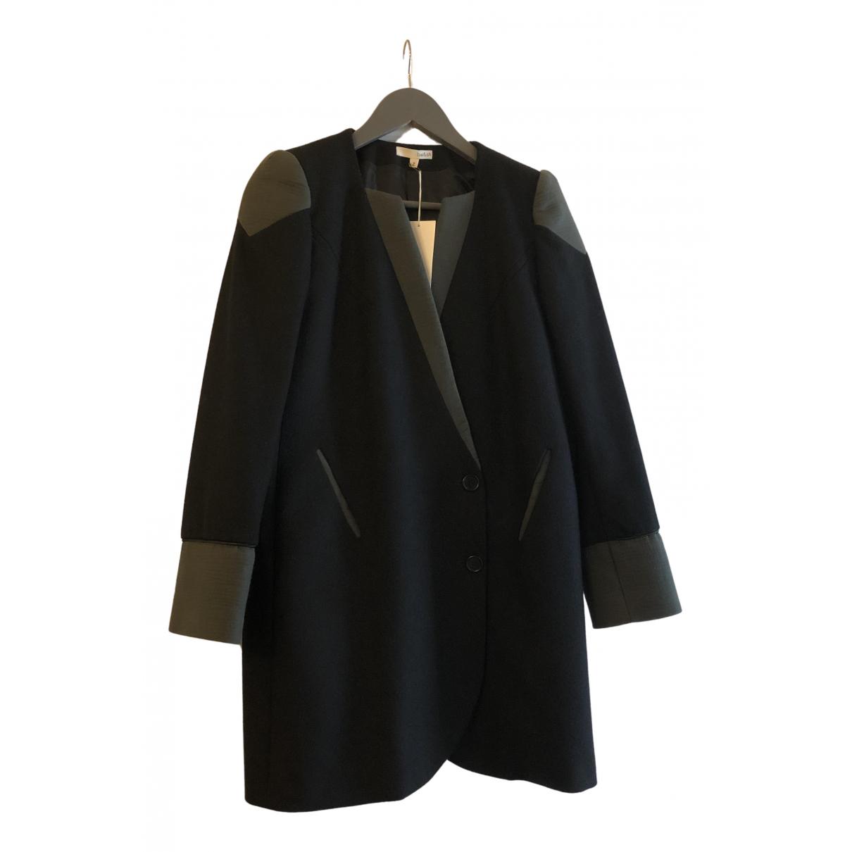 Ba&sh \N Black Wool coat for Women 38 FR