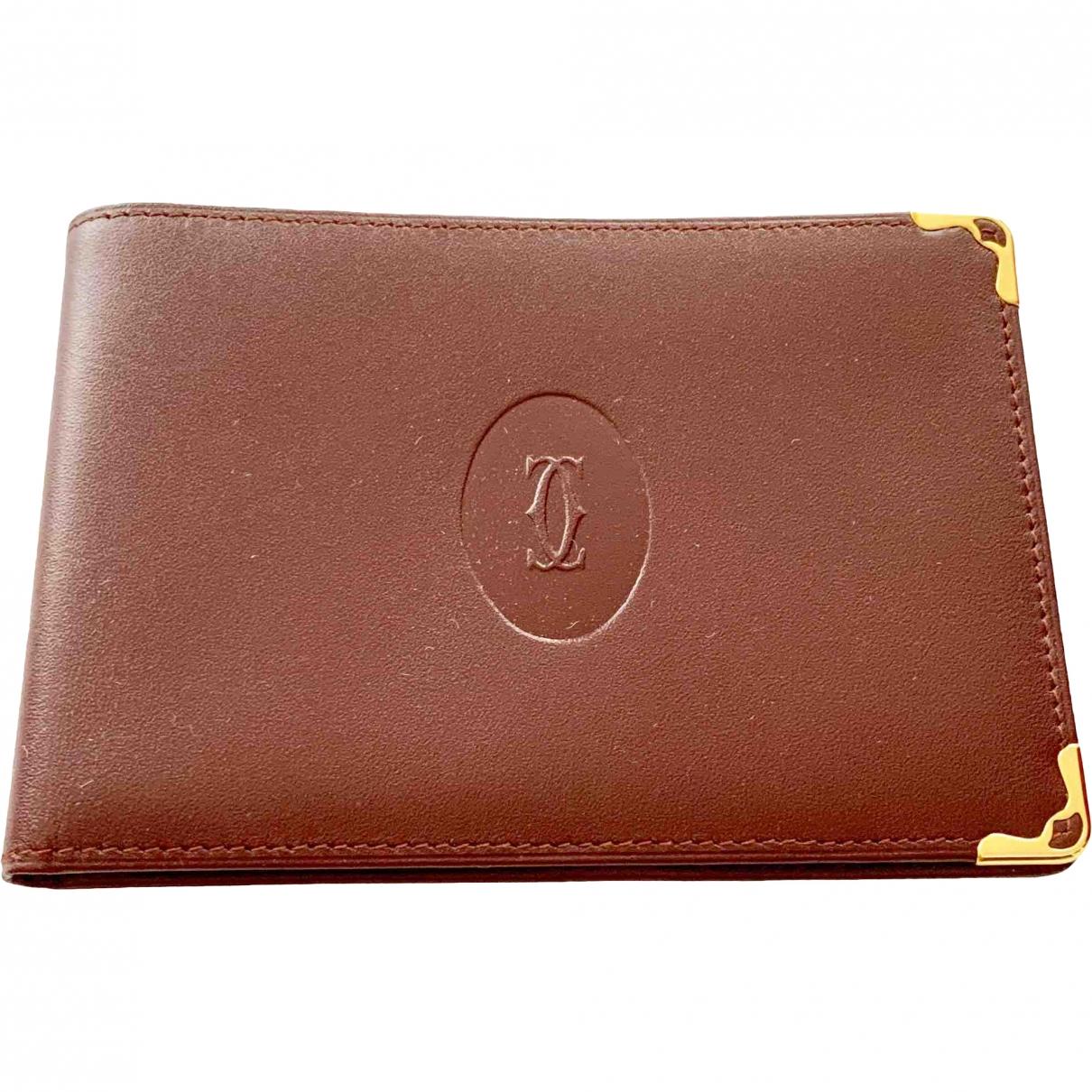 Cartier - Portefeuille   pour femme en cuir - marron