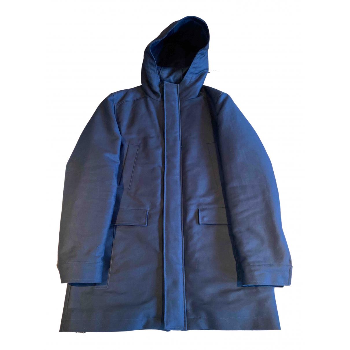 Abrigo en Algodon Azul Balibaris