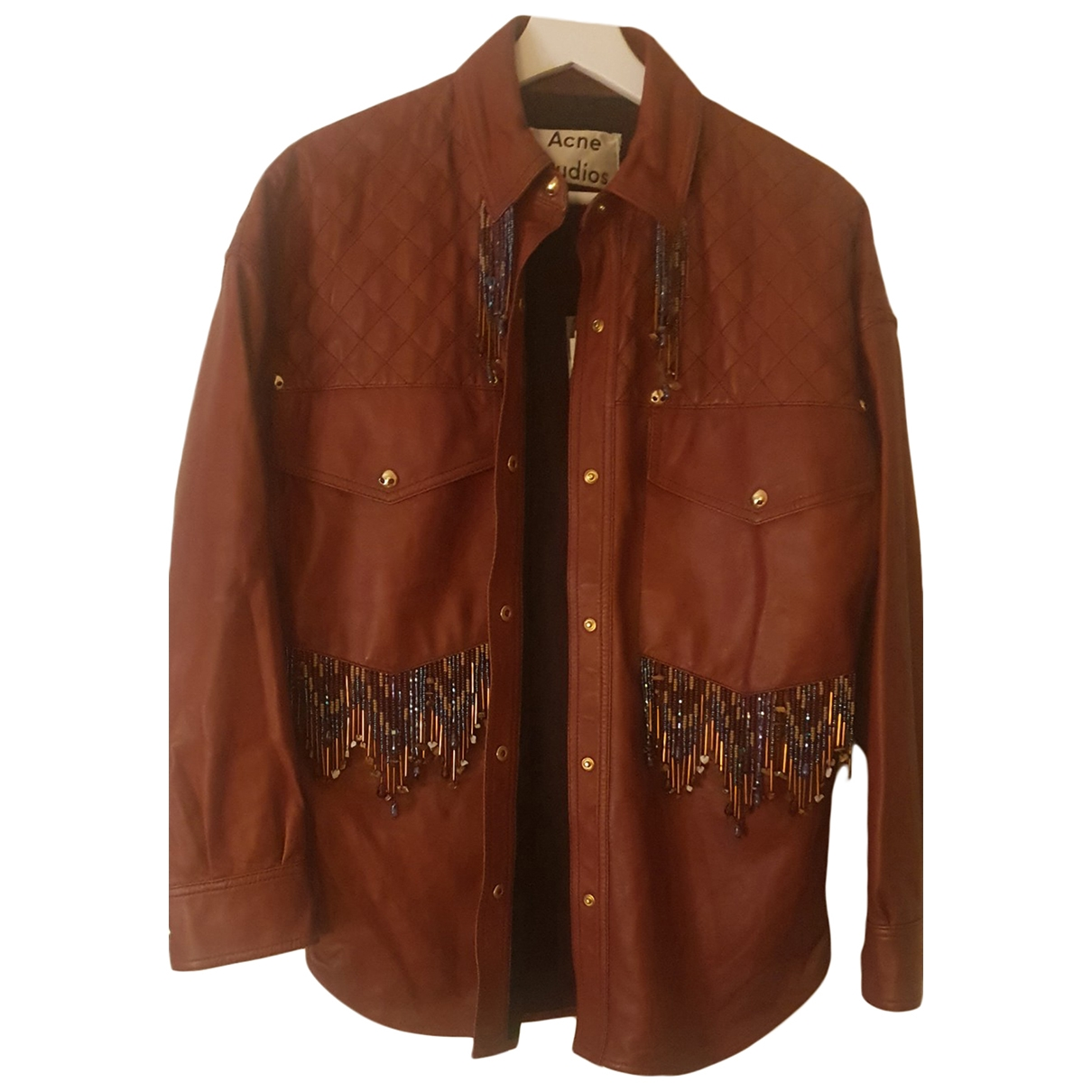 Acne Studios \N Brown Leather jacket for Women 36 FR