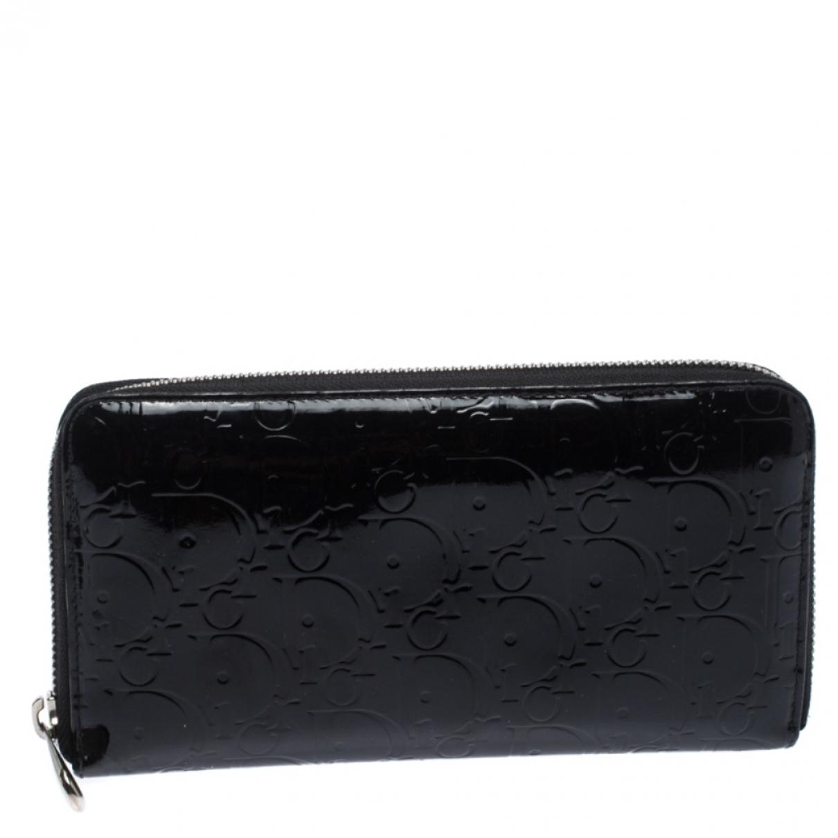 Dior Diorissimo Portemonnaie in  Schwarz Lackleder