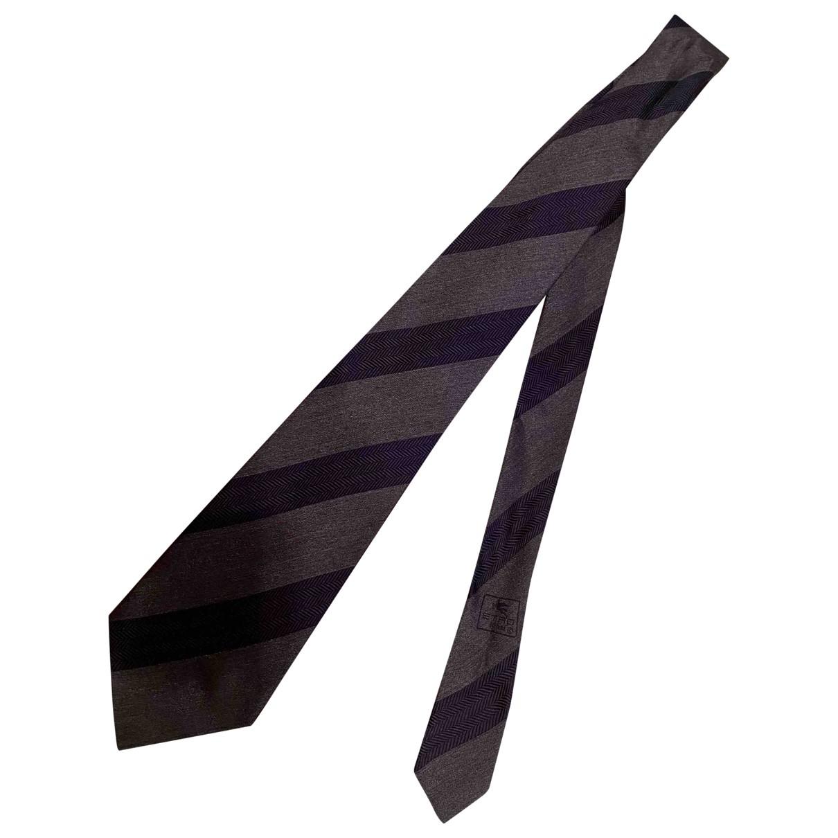 Etro \N Grey Silk Ties for Men \N
