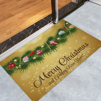 Christmas Pine Branches Pattern Indoor Outdoor Area Rug