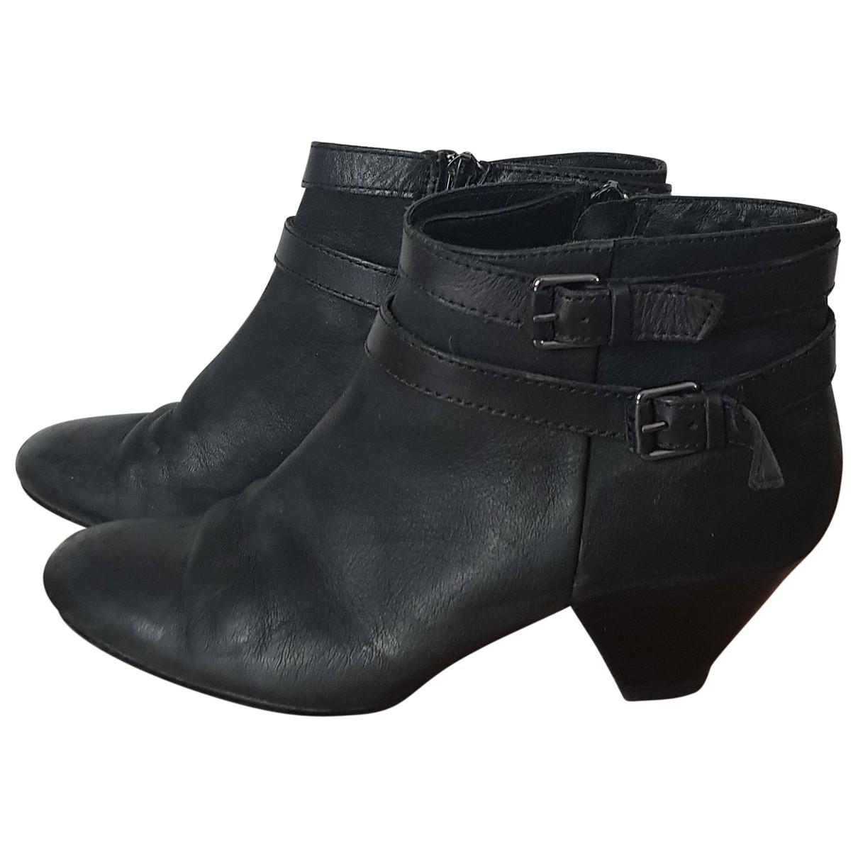 Ash - Boots   pour femme en cuir - noir