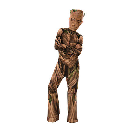 Avengers Endgame Teen Groot Child 4-pc. Dress Up Costume Boys, Small , Brown
