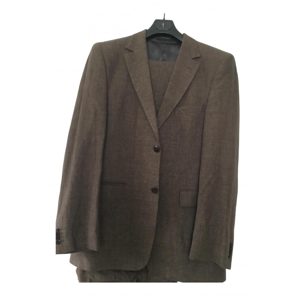 Non Signé / Unsigned \N Brown Linen Suits for Men L International