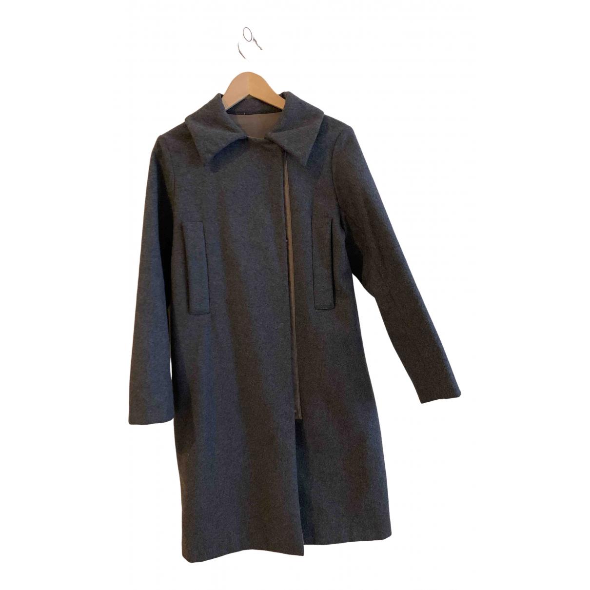 Maison Martin Margiela - Manteau   pour femme en laine - gris